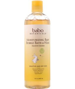 BABO BOTANICALS, MOISTURIZING BABY BUBBLE BATH & WASH, OATMILK CALENDULA, 15 FL OZ / 450ml