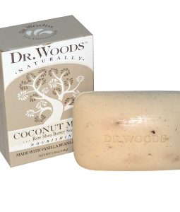 DR. WOODS, RAW SHEA BUTTER SOAP, COCONUT MILK, 5.25 OZ / 149g
