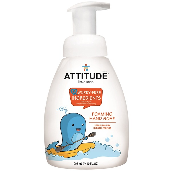 ATTITUDE, LITTLE ONES, FOAMING HAND SOAP, 10 FL OZ / 295ml
