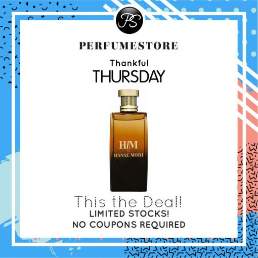 HANAE MORI HIM EDT FOR MEN 100ML [THANKFUL THURSDAY SPECIAL]