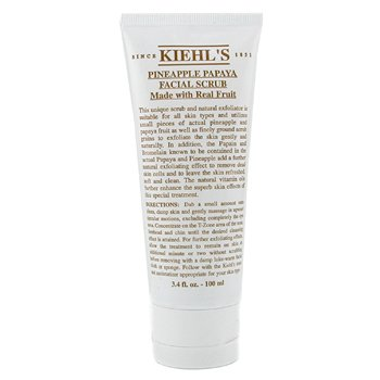 KIEHL'S PINEAPPLE PAPAYA FACIAL SCRUB WITH REAL FRUIT EXTRACTS  100ML/3.4OZ