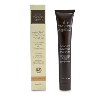 JOHN MASTERS ORGANICS MANDARIN MAXIMUM MOISTURE (FOR DRY/ MATURE SKIN)  30ML/1OZ