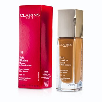 CLARINS SKIN ILLUSION NATURAL RADIANCE FOUNDATION SPF 10 - # 113 CHESTNUT 402731  30ML/1OZ