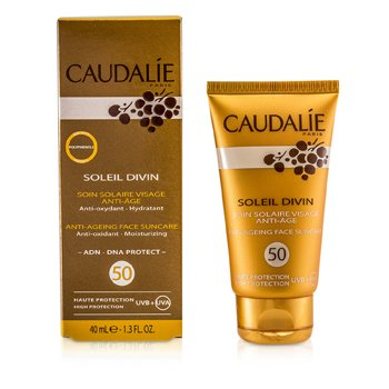 CAUDALIE SOLEIL DIVIN ANTI-AGEING FACE SUNCARE SPF 50 HIGH PROTECTION  40ML/1.3OZ