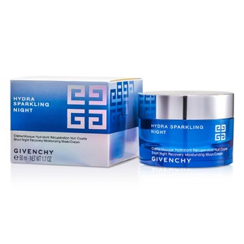 GIVENCHY HYDRA SPARKLING NIGHT SHORT NIGHT RECOVERY MOISTURIZING MASK/ CREAM  50ML/1.7OZ