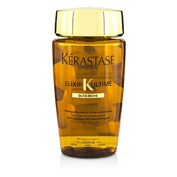 KERASTASE ELIXIR ULTIME OLEO-RICHE RICH SHAMPOO (FOR ALL THICK HAIR TYPES)  250ML/8.5OZ