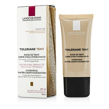 LA ROCHE POSAY TOLERIANE TEINT HYDRATING WATER CREAM FOUNDATION SPF 20 - 03 SAND  30ML/1OZ