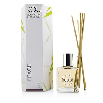 IKOU AROMACOLOGY DIFFUSER REEDS - PEACE (ROSE & YLANG YLANG - 9 MONTHS SUPPLY)  -