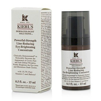KIEHL'S DERMATOLOGIST SOLUTIONS POWERFUL-STRENGTH LINE-REDUCING EYE-BRIGHTENING CONCENTRATE  15ML/0.5OZ