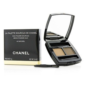CHANEL LA PALETTE SOURCILS DE CHANEL BROW POWDER DUO - # 40 NATUREL  4G/0.14OZ
