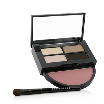 BOBBI BROWN INSTANT PRETTY EYE & CHEEK PALETTE (3X EYE SHADOW, 1X METALLIC EYE SHADOW, 1X BLUSH, 1X MINI EYE SHADOW BRUSH)  -