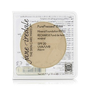 JANE IREDALE PUREPRESSED BASE MINERAL FOUNDATION REFILL SPF 20 - IVORY 12821  9.9G/0.35OZ