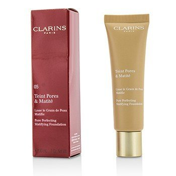 CLARINS PORE PERFECTING MATIFYING FOUNDATION - # 05 NUDE CAPPUCCINO  30ML/1OZ