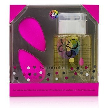 BEAUTYBLENDER TWO BB CLEAN KIT (2X BEAUTYBLENDER, 1X LIQUID BLENDERCLEANSER 150ML/5OZ) - ORIGINAL (PINK)  3PCS