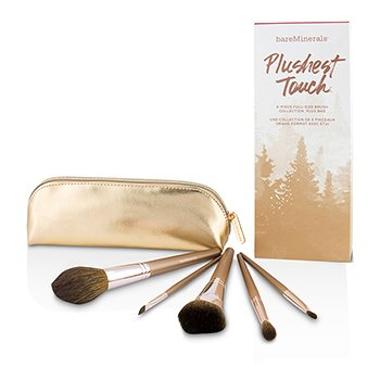 BAREMINERALS PLUSHEST TOUCH 5 PIECE BRUSH COLLECTION  -