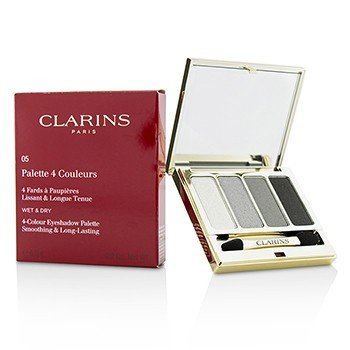 CLARINS 4 COLOUR EYESHADOW PALETTE (SMOOTHING & LONG LASTING) - #05 SMOKY  6.9G/0.2OZ