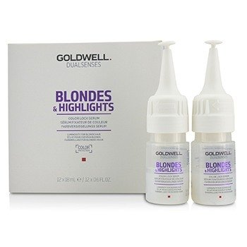 GOLDWELL DUAL SENSES BLONDES & HIGHLIGHTS COLOR LOCK SERUM (LUMINOSITY FOR BLONDE HAIR)  12X18ML/0.6OZ