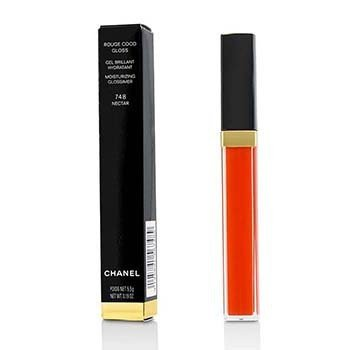 CHANEL ROUGE COCO GLOSS MOISTURIZING GLOSSIMER - # 748 NECTAR  5.5G/0.19OZ