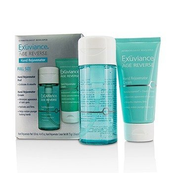 EXUVIANCE AGE REVERSE HAND REJUVENTOR SET: HAND REJUVENTOR PEEL + HAND REJUVENTOR CREAM  2PCS
