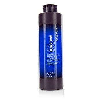 JOICO COLOR BALANCE BLUE SHAMPOO (ELIMINATES BRASSY/ORANGE TONES ON LIGHTENED BROWN HAIR)  1000ML/33.8OZ