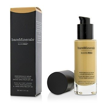 BAREMINERALS BAREPRO PERFORMANCE WEAR LIQUID FOUNDATION SPF20 - # 12 WARM NATURAL  30ML/1OZ