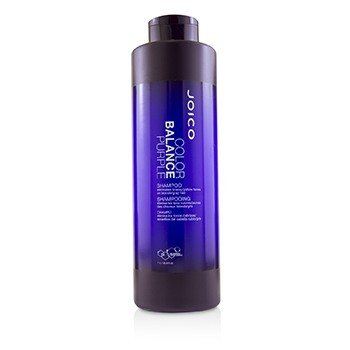 JOICO COLOR BALANCE PURPLE SHAMPOO (ELIMINATES BRASSY/YELLOW TONES ON BLONDE/GRAY HAIR)  1000ML/33.8OZ