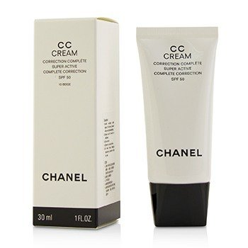 CHANEL CC CREAM SUPER ACTIVE COMPLETE CORRECTION SPF 50 # 10 BEIGE  30ML/1OZ
