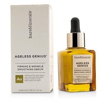 BAREMINERALS AGELESS GENIUS FIRMING & WRINKLE SMOOTHING SERUM  30ML/1OZ