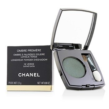 CHANEL OMBRE PREMIERE LONGWEAR POWDER EYESHADOW - # 18 VERDE (SATIN)  2.2G/0.08OZ