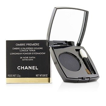 CHANEL OMBRE PREMIERE LONGWEAR POWDER EYESHADOW - # 26 NOIR SATIN (SATIN)  2.2G/0.08OZ