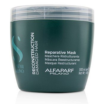 ALFAPARF SEMI DI LINO RECONSTRUCTION REPARATIVE MASK (DAMAGED HAIR)  500ML/17.2OZ