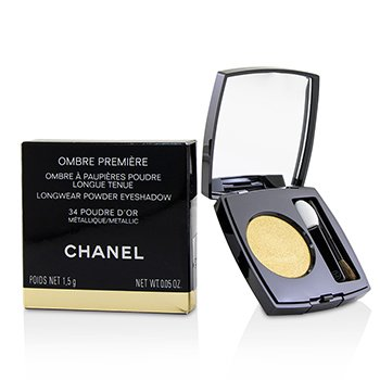 CHANEL OMBRE PREMIERE LONGWEAR POWDER EYESHADOW - # 34 POUDRE D'OR (METALLIC)  1.5G/0.05OZ