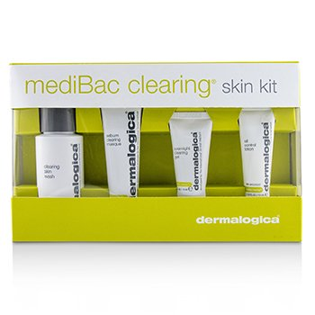 DERMALOGICA MEDIBAC CLEARING SKIN KIT: CLEARING SKIN WASH + SEBUM CLEARING MASQUE + OVERNIGHT CLEARING GEL + OIL CONTROL LOTION  4PCS