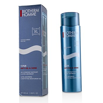 BIOTHERM HOMME T-PUR ANTI OIL & SHINE ULTRA ABSORBING & MATTIFYING MOISTURIZER GEL  100ML/3.38OZ