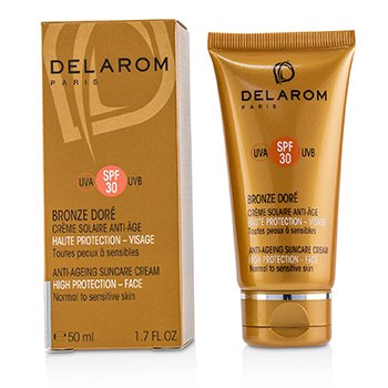DELAROM ANTI-AGEING SUNCARE FACE CREAM SPF 30 - FOR NORMAL TO SENSITIVE SKIN  50ML/1.7OZ