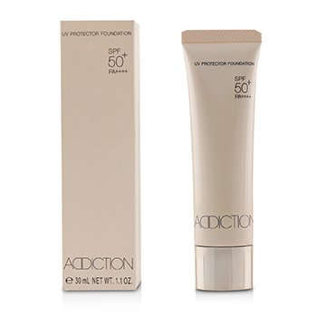 ADDICTION UV PROTECTOR FOUNDATION SPF 50 - # 010 (ALMOND BEIGE)  30ML/1.1OZ