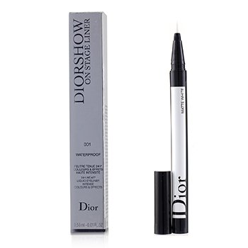 CHRISTIAN DIOR DIORSHOW ON STAGE LINER WATERPROOF - # 001 MATTE WHITE  0.55ML/0.01OZ