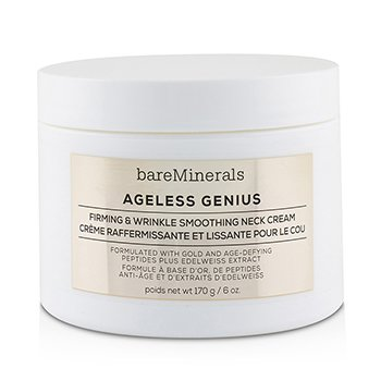 BAREMINERALS AGELESS GENIUS FIRMING & WRINKLE SMOOTHING NECK CREAM (SALON SIZE)  170G/6OZ