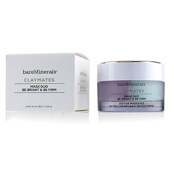 BAREMINERALS CLAYMATES BE BRIGHT & BE FIRM MASK DUO  58G/2.04OZ