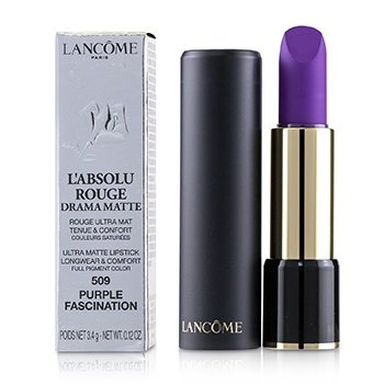 LANCOME L'ABSOLU ROUGE DRAMA MATTE LIPSTICK - # 509 PURPLE FASCINATION  3.4G/0.12OZ
