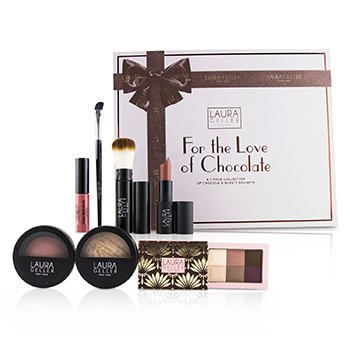 LAURA GELLER FOR THE LOVE OF CHOCOLATE A 7 PIECE COLLECTION OF CHOCOLATE BEAUTY DELIGHTS - # MEDIUM  7PCS