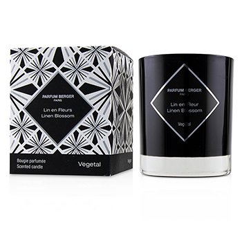 LAMPE BERGER GRAPHIC CANDLE - LINEN BLOSSOM  210G/7.4OZ