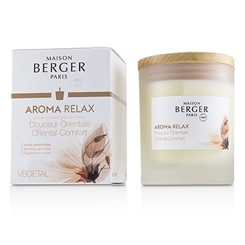 LAMPE BERGER SCENTED CANDLE -  AROMA RELAX (POGOSTEMON CABLIN)  180G/6.3OZ