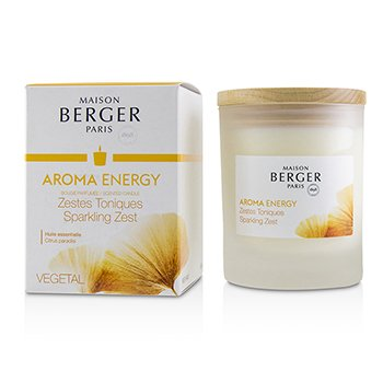 LAMPE BERGER SCENTED CANDLE - AROMA ENERGY (CITRUS PARADISI)  180G/6.3OZ