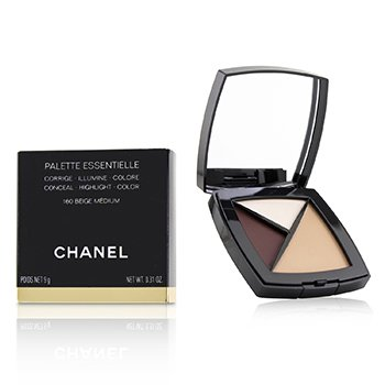 CHANEL PALETTE ESSENTIELLE (CONCEAL, HIGHLIGHT AND COLOR) - # 160 BEIGE MEDIUM  9G/0.31Z