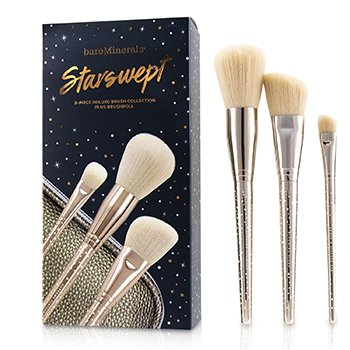 BAREMINERALS STARSWEPT DELUXE BRUSH COLLECTION  3PCS+1BAG