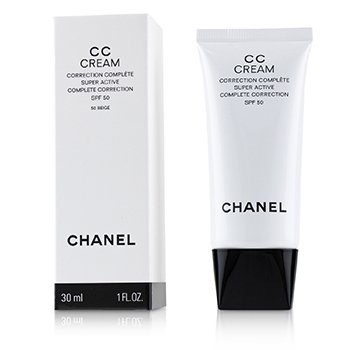 CHANEL CC CREAM SUPER ACTIVE COMPLETE CORRECTION SPF 50 # 50 BEIGE  30ML/1OZ