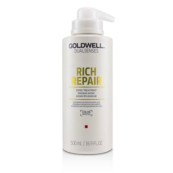 GOLDWELL DUAL SENSES RICH REPAIR 60SEC TREATMENT (REGENERATION FOR DAMAGED HAIR)  500ML/16.9OZ