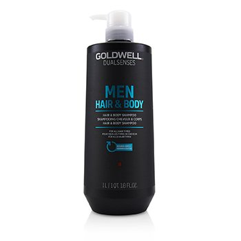 GOLDWELL DUAL SENSES MEN HAIR & BODY SHAMPOO (FOR ALL HAIR TYPES)  1000ML/33.8OZ