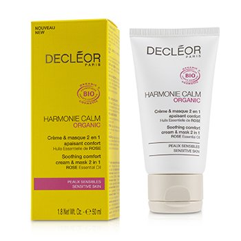 DECLEOR HARMONIE CALM ORGANIC SOOTHING COMFORT CREAM & MASK 2 IN 1 - FOR SENSITIVE SKIN  50ML/1.8OZ